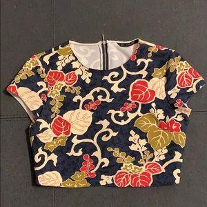 Zara Basic Floral Crop Top